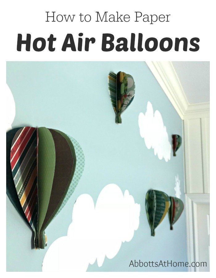 Wall view of Hot Air Balloons with text.