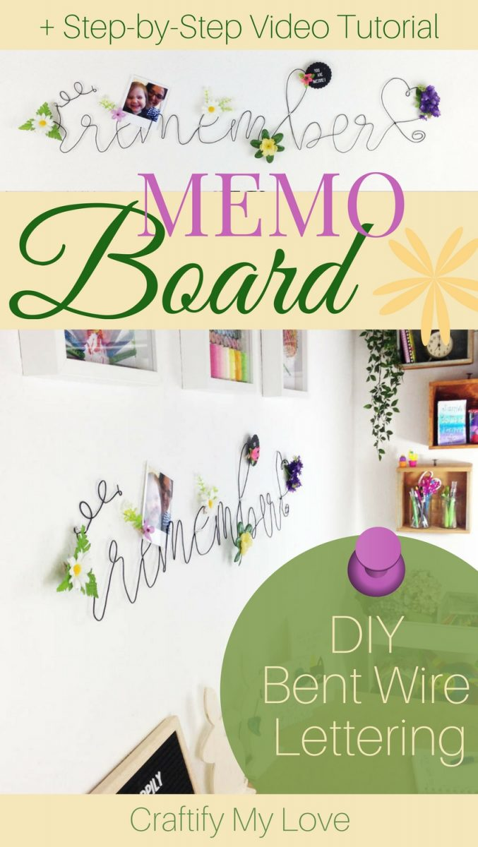 Learn how to make a decorative memo board from bent wire to get more organized.