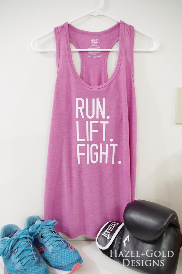 Check out this awesome workout tank with my custom phrasing. Made this using the NEW Cricut SportFlex Iron-on Vinyl. It is amazing stuff! #cricutmade #cricut #sponsored #sportflexironon #irononvinyl #cricutexploreair2 #CricutStrongBond