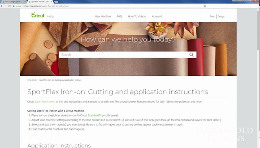 Before going any further, be sure to read and completely understand theinstructions for SportFlex Iron-on.
