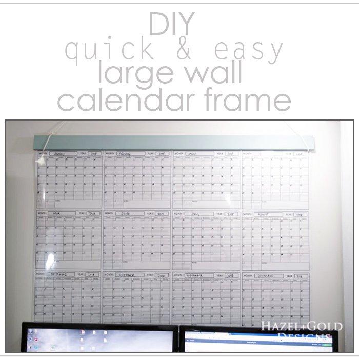 diy large wall calendar frame featured image