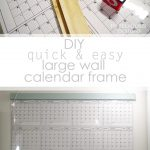 diy large wall calendar frame pinterest image