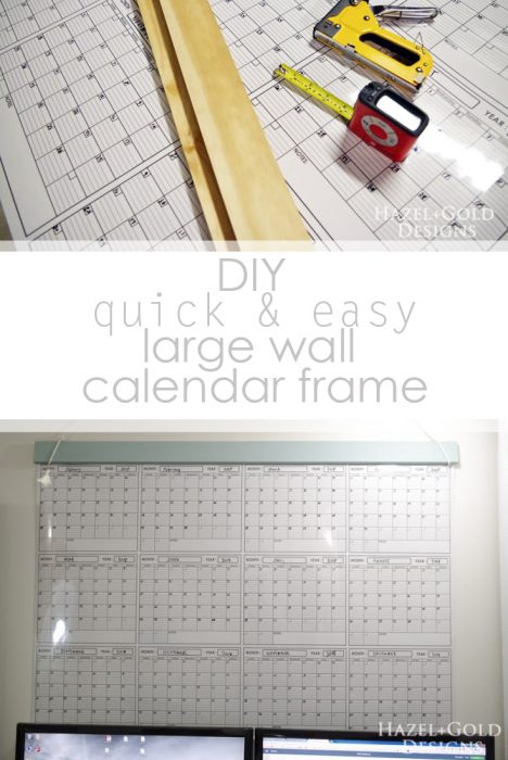 diy large wall calendar frame pinterest image