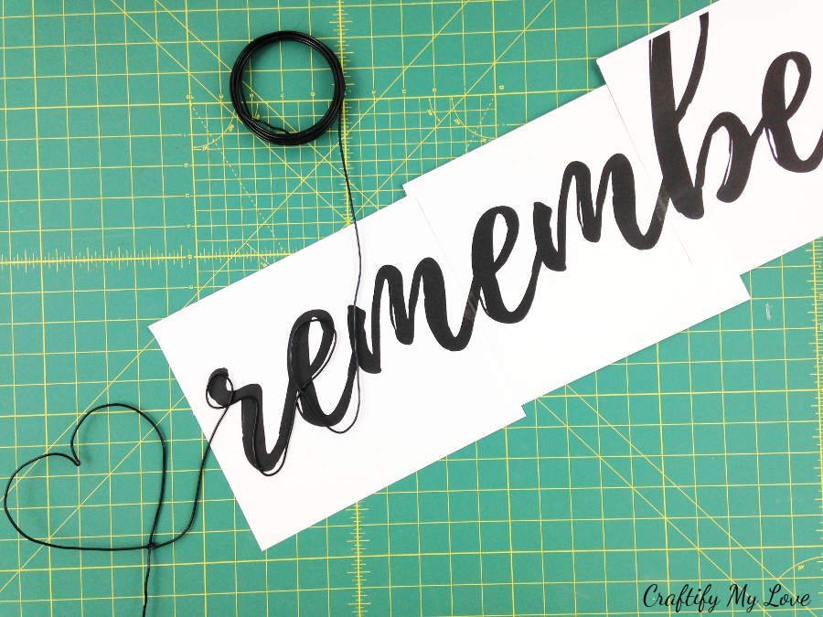 bending craft wire alongside free printable template remember