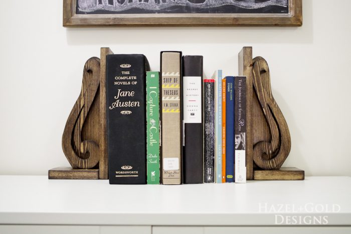 DIY Decorative Wooden Bookends