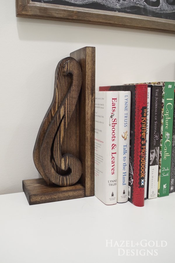DIY Bookends Tutorial on The House of Wood
