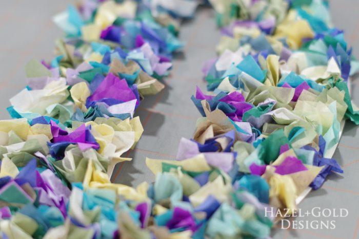 DIY Tissue Paper Monogram- closeup