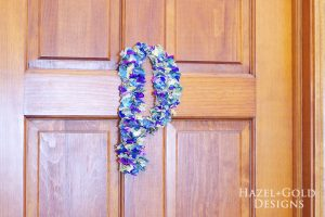 DIY Tissue Paper Monogram- finished photo