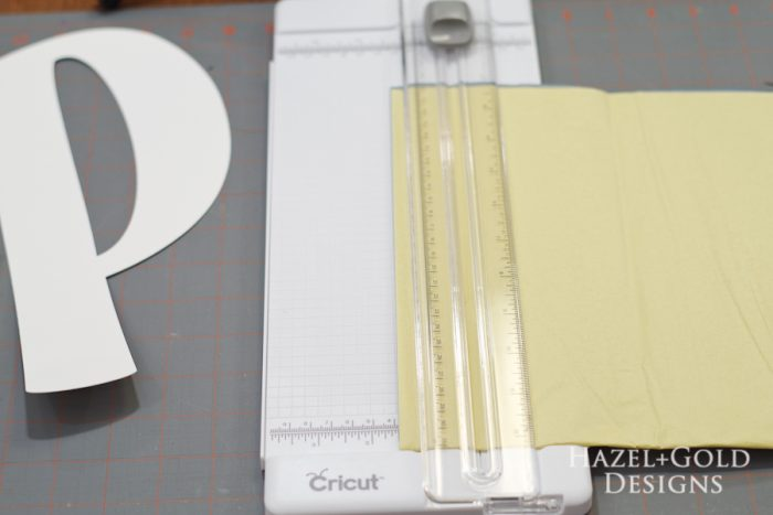 DIY Tissue Paper Monogram- Cut tissue paper into strips