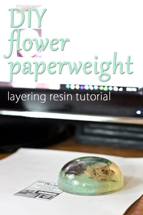 Diy flower paperweight hazel gold designs save mightylinksfo