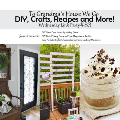 To Grandma's House We Go! DIY, Crafts, Recipes and More Wednesday Link Party #83