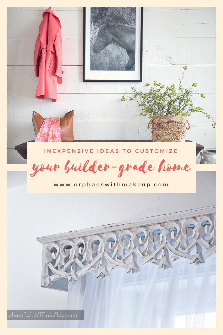 How to Customized your Builder Grade Home featured in our Wednesday Link Party