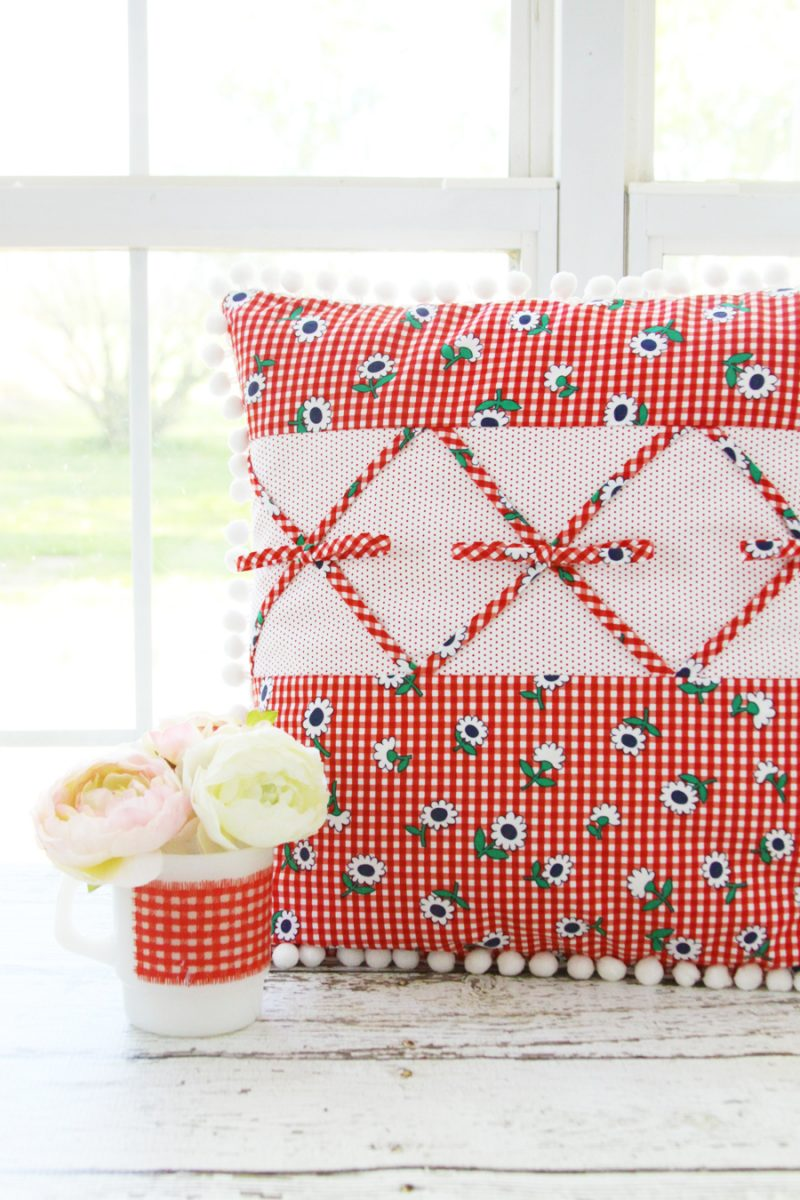 Retro Gingham Pillow