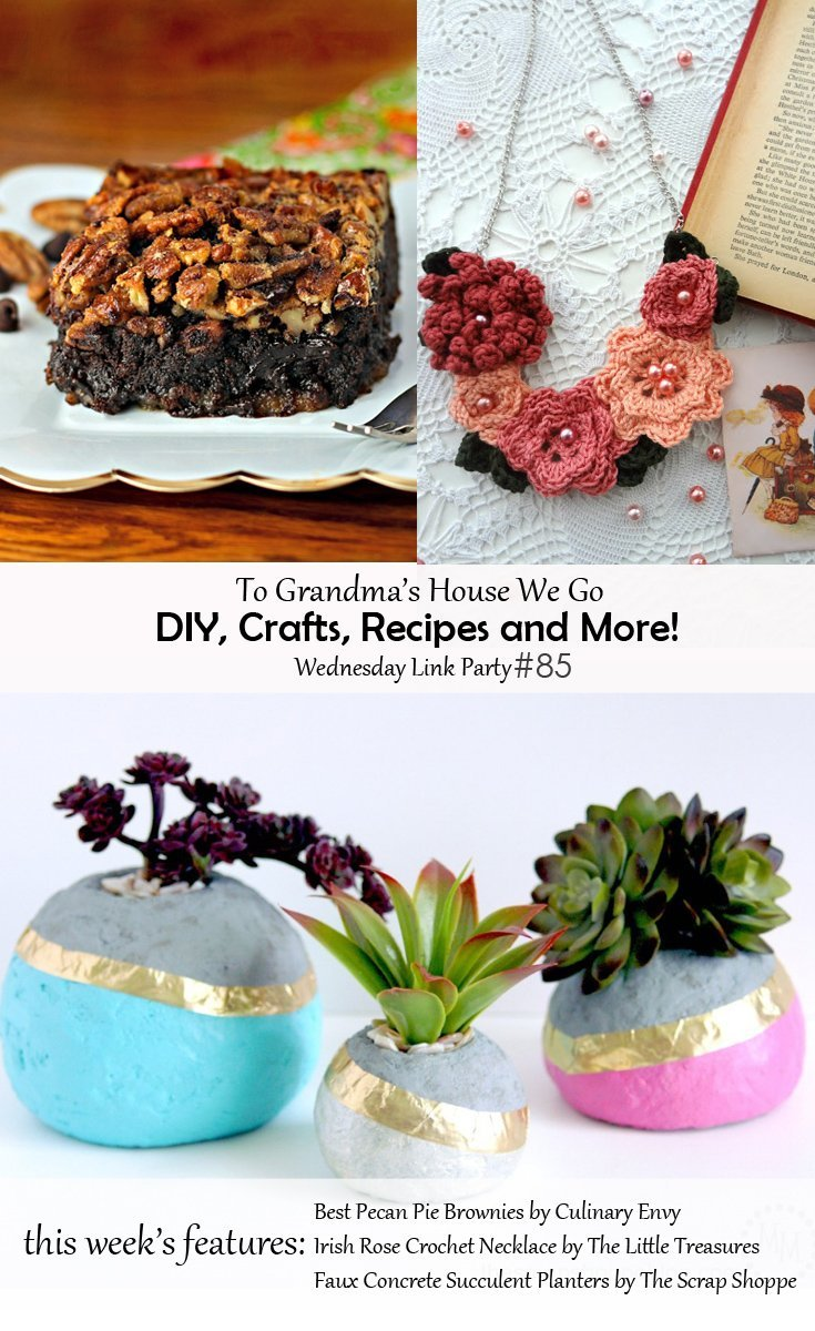 To Grandma's House We Go DIY, Crafts, Recipes and More Link Party - join in the fun and check out all the amazing featured projects or add your own!