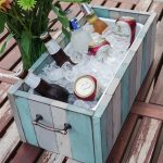 DIY Patio Table Drink Holder - finished photo vertical
