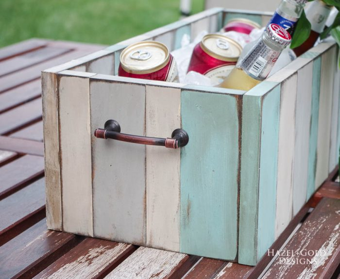 DIY Patio Table Drink Holder - finished photo horizontal