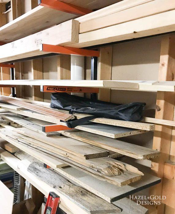 DIY Patio Table Drink Holder - scrap board rack