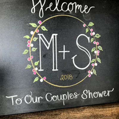 Welcome to our couples shower sign