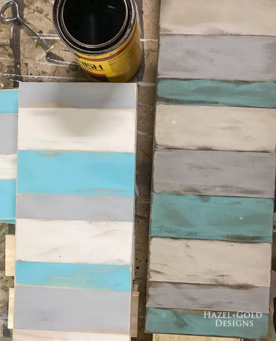 DIY Patio Table Drink Holder - difference between clean and stained