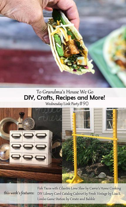 Check out our weekly link party for some amazing creative and inspirational projects and ideas! To Grandma's House We Go DIY, Crafts, Recipes and More Wednesday link party! If you're a blogger, join in the fun by adding your links. If you're not, just come get inspired!