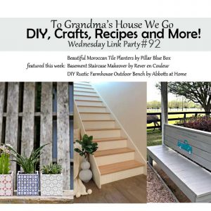 Come check out our awesome To Grandma's House We Go DIY, Crafts, Recipes and More Wednesday Link Party and check out the featured projects each week! So much creative inspiration! If you're a blogger, feel free to link to your best projects for a chance to be featured.