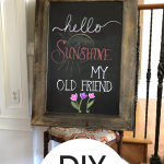 Create an adorable DIY chalkboard sign with these handy tips!