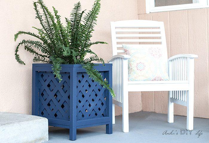 diy lattice planter box by anikas diy life