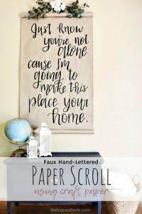 Paper Scroll DIY