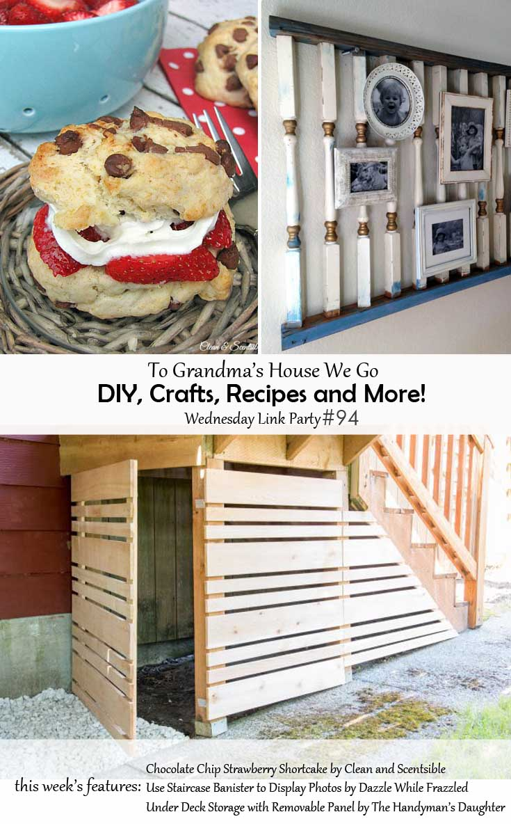 To Grandma's House We Go DIY, Crafts, Recipes and More Wednesday Link Party #94 - These three projects are being featured in our To Grandma's House We Go Wednesday Link Party! Check them out and all the other projects too! If you're a blogger, enter your links for a chance to be featured!