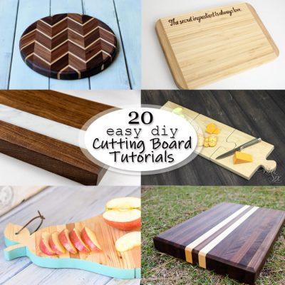 20 Easy DIY Cutting Board Tutorials