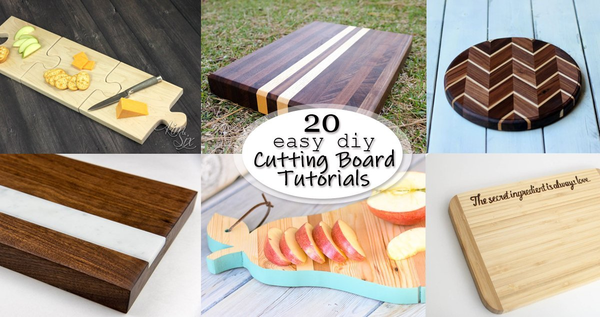 20 easy diy cutting board tutorials social media image