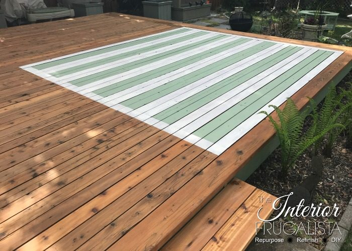 How to Stain an Outdoor Rug Stained Deck rug