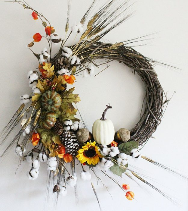 DIY-Rustic-Fall-Grapevine-Wreath-Our-Crafty-Mom