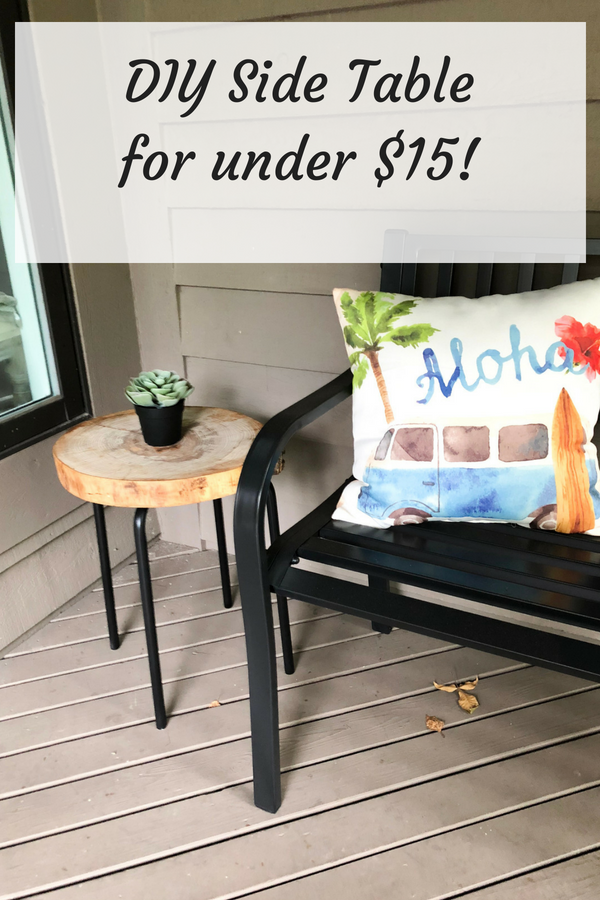 Check out this super easy DIY Side Table I made for less than $15!!!
