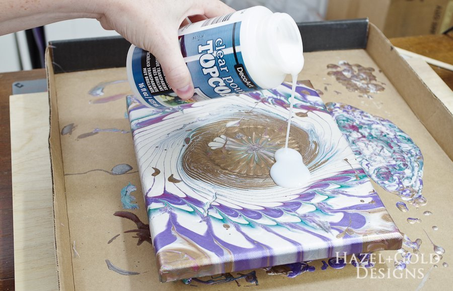 Acrylic Paint Pouring Art Tutorial Hazel Gold Designs
