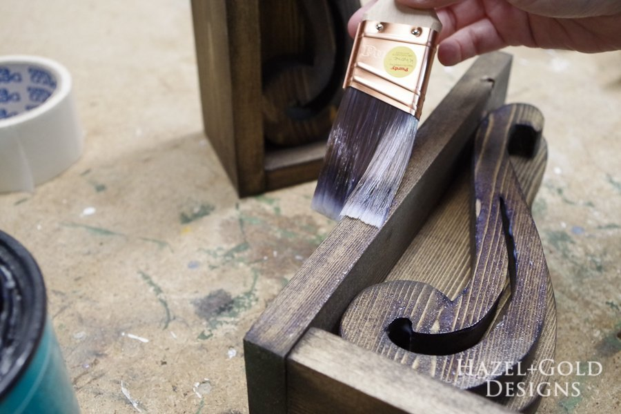 DIY Beautiful Wooden Bookends - coat with polycrylic