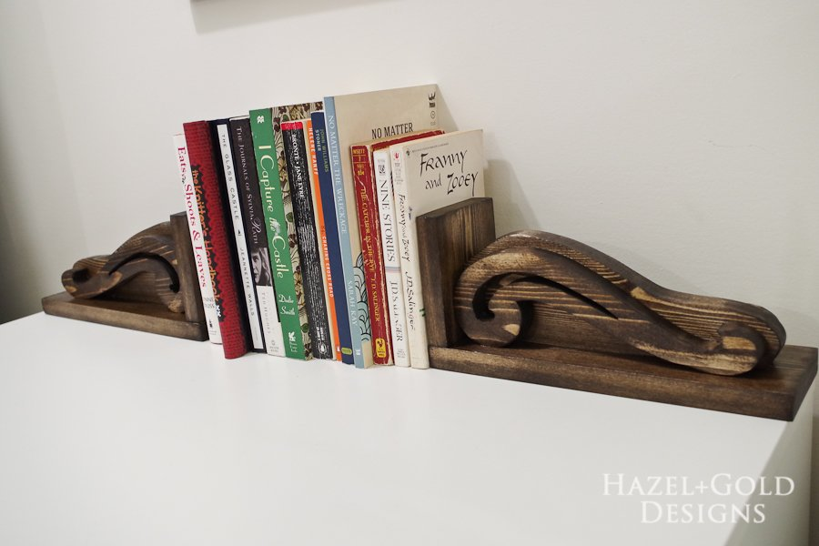 DIY Beautiful Wooden Bookends - laid flat