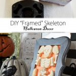 DIY Framed Skeleton Pinterest image