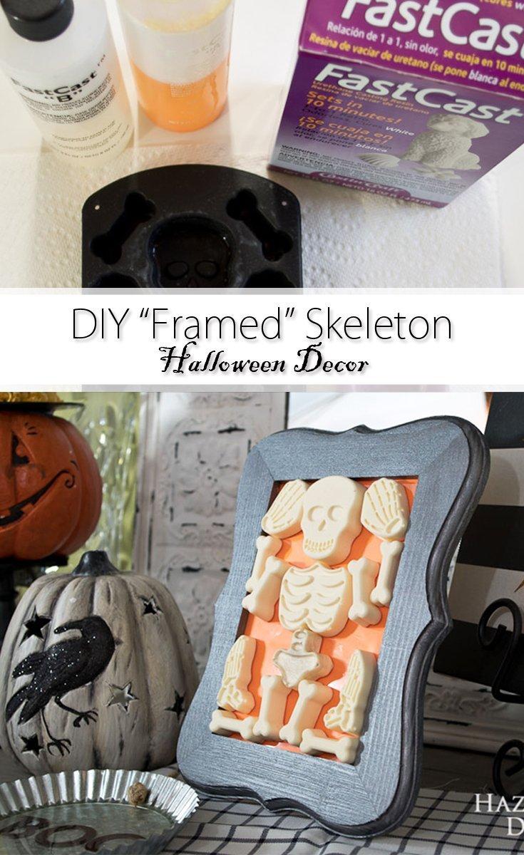DIY Framed Skeleton Pinterest image