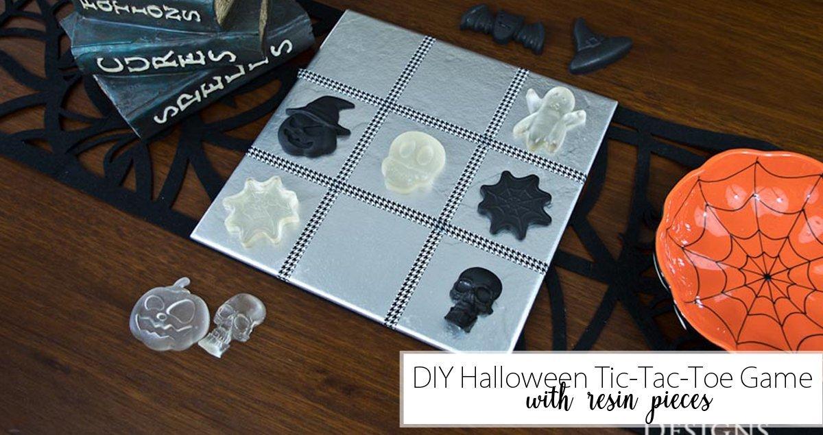 DIY Halloween Tic-Tac-Toe Game Social Media image