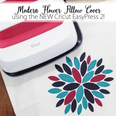 Modern Flower Pillow using Cricut EasyPress 2 - featured image