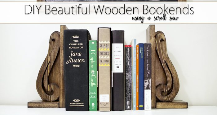 Learn how to DIY this Beautiful Wooden Bookends using scrap wood pieces and your scroll saw!