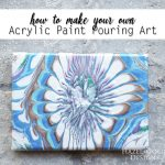 how to make your own acrylic paint pouring art - featured image
