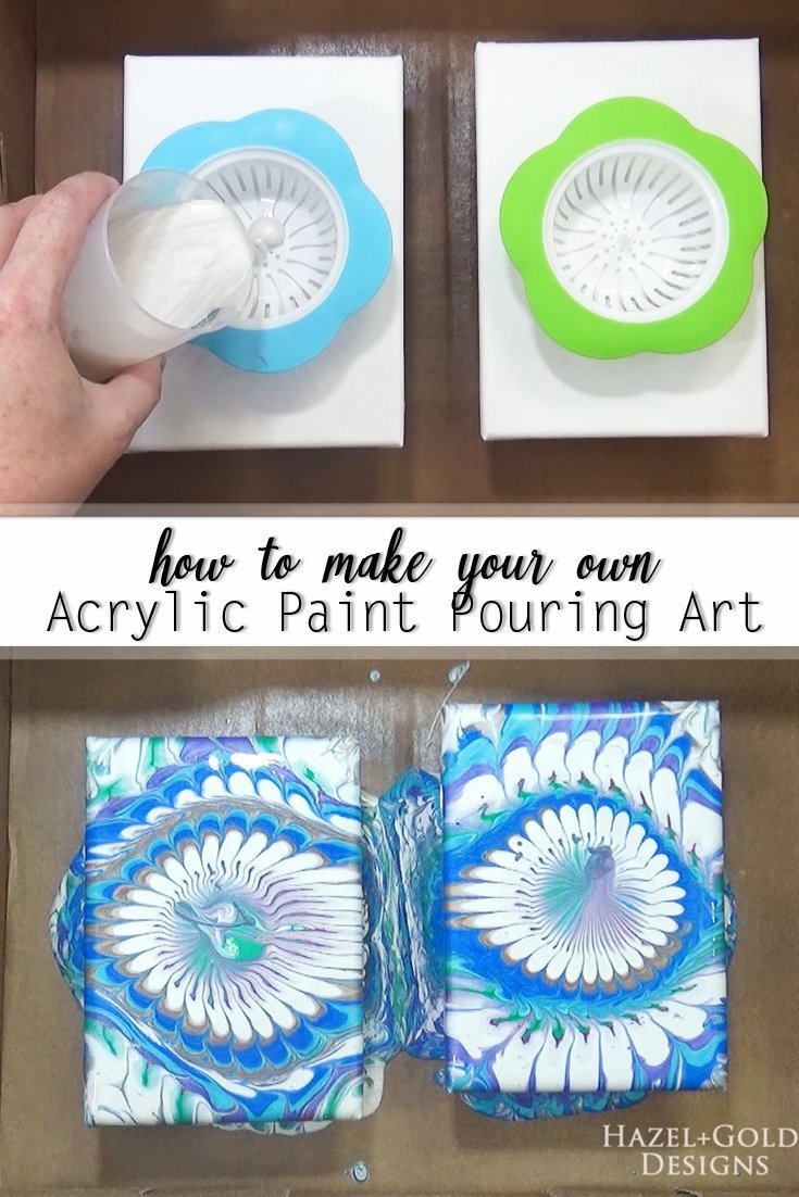 how to make your own acrylic paint pouring art - pinterest image