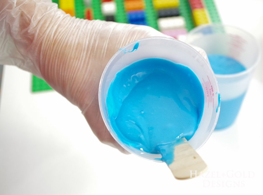 DIY Lego Mold- it should all be one solid color of blue