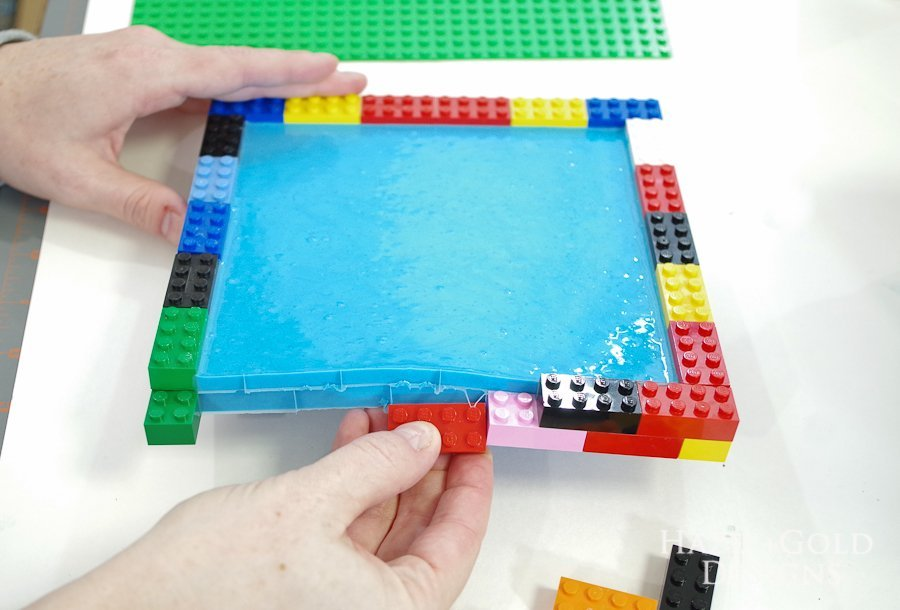 DIY Lego Mold- remove all the legos from sides