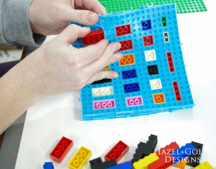 DIY Lego Mold- remove legos from inside of rubbery mold