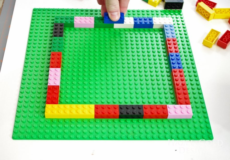DIY Lego Mold-start building outer walls