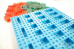DIY Lego Mold - finished Lego mold ready to make candies