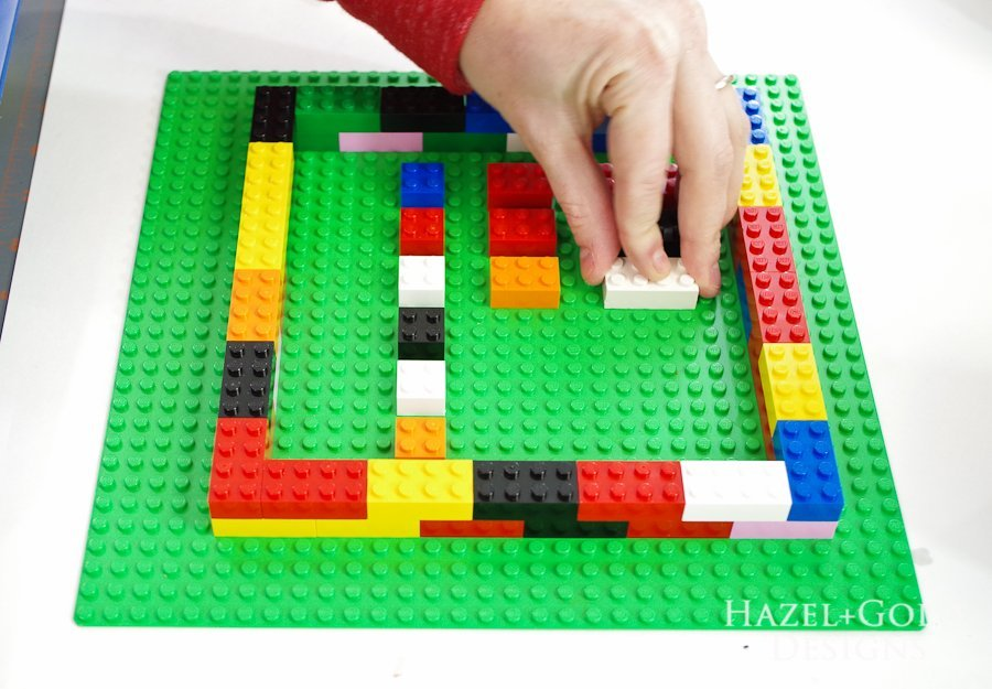 DIY Lego Mold- place single legos inside walls that you want molds of